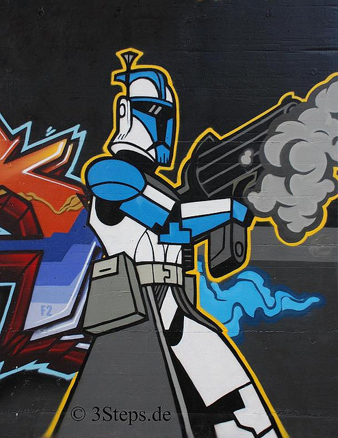Clone Trooper - 3Steps - Graffiti - Clone Wars - Star Wars